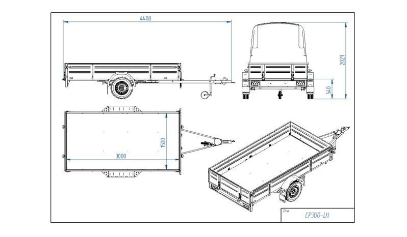 Modelis: TIKI CP300-LH PRO full